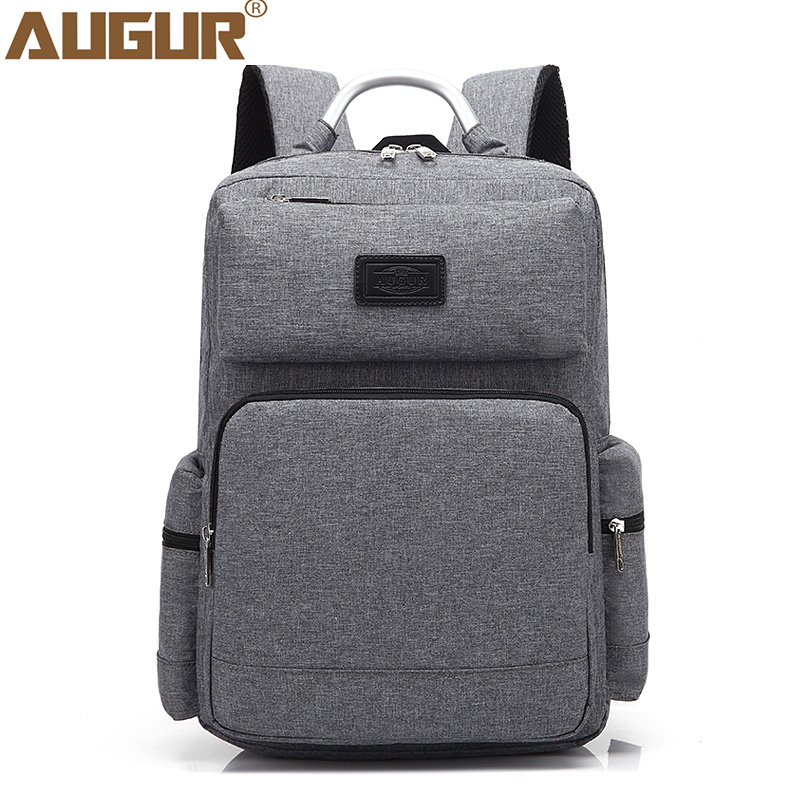 AUGUR 2018 Fashion Men Backpack Oxford High quality 15.6inch Laptop Notebook Back pack to School Bag College Students Back bag factors contributing to indiscipline among high school students