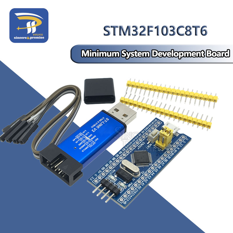 STM32F103C8T6 ARM STM32 Minimum System Development Board Module For Arduino DIY Kit ST-Link V2 Mini STM8 Simulator Download