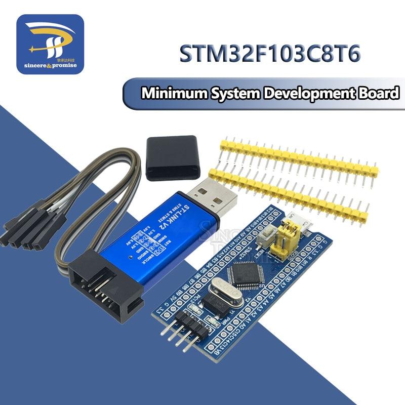 STM32F103C8T6 ARM STM32 минимальная системная плата модуля для Arduino DIY Kit ST-Link V2 Mini STM8 симулятор загрузки