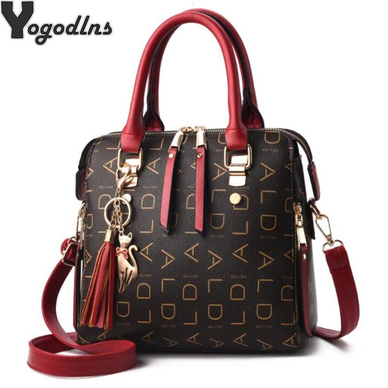 2019 New Tassel Designers Fashion Women PU Leather Bag Large Capacity Shoulder Bags Casual Tote Simple Top-handle HandBags