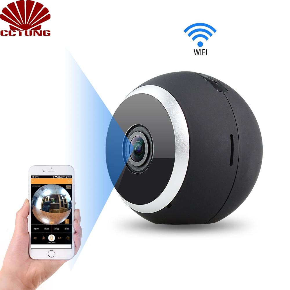 Vision nocturne panoramique 3D caméra HD Wifi 360 degrés objectif Fisheye pleine vue et interphone Audio 2 voies application Android iOS gratuite