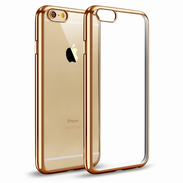 Portefeuille For iPhone 6s Case 6 S 7 8 X SE Flexible Soft TPU Bumper Silicone Frame Crystal Back Cover Mobile Phone Accessories