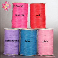 160m Lot 1mm Waxed Cotton Thread Color Nylon Leather Cord String Braid For Diy Making Jewelry