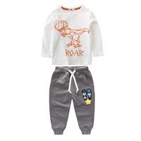 Boy kleding kinderkleding meisjes kleding Trainingspak voor meisjes kinderkleding sets jongen dinosaurus sets kleding set kleding voor kinderen