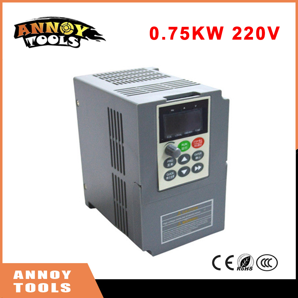 цена на 0.75KW 220V Single Phase Input Frequency Inverter 4A 220V 3 Phase Output Mini Frequency Drive Converter V8 Series