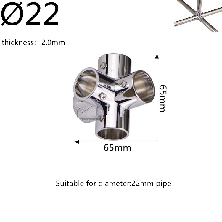 W Shaped 22mm Elbow Steel Pipe Connector Round Pipe Joints Drying Rack Shelf Hanger Connector Pipe Fittings Five-way Shelves
