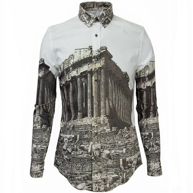 5e7997e92f Luxury Brand Men Shirt Fashion Design Mens Slim Fit Long Sleeve Dress  Shirts Casual Stylish 3D Printed Shirts Chemise Homme