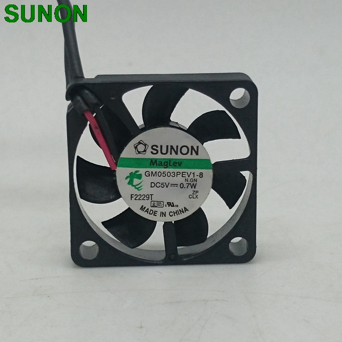 SUNON GM0503PEV1-8 Slim 6mm thickness 3006 5V 0.7W DC brushless Cooling fan sunon 3006 30mm 3cm kde0503pev3 8 5v 0 35w 0 07a silent quiet server inverter hdd coolinig fan