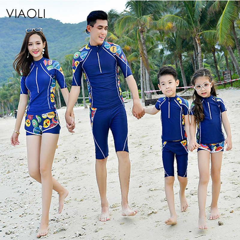 4fbecc9d8a 2019 New Print Women Swimwear Girl & Boy Swimsuit Cute Kid Swimwear Family  Party SwimsuitSwimsuit Sexy