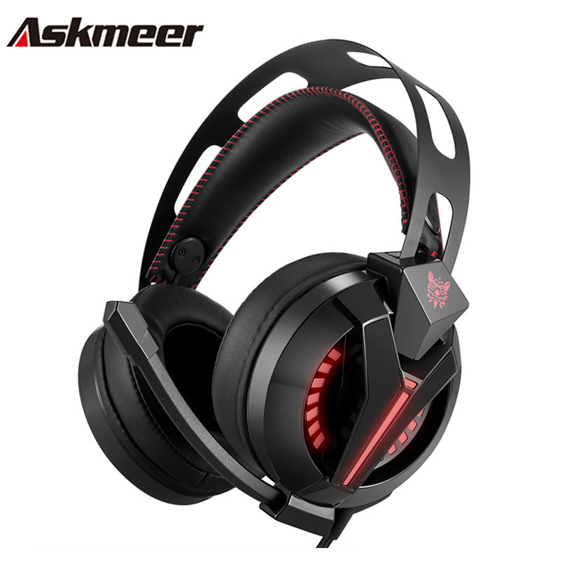 Askmeer PS4 Gaming Headphones casque Best Stereo Bass Game Headset Gamer with Microphone Mic LED Light for Xbox One PC Game led bass hd gaming headset mic stereo computer gamer over ear headband headphone noise cancelling with microphone for pc game