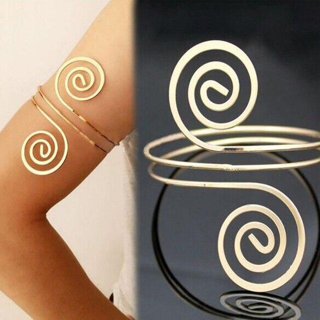 Lalynnly Fashion Bracelet & Bangle Bohemian Ethnic Upper Arm Bracelet Gold  Vintage Arrow Open Bangle Armlet Arm Cuff B05941