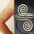 Moda Bracelet & Bangle Bohemian Ethnic Braço Pulseira da Cor do Ouro Do Vintage Seta Abrir Bangle Armlet Arm Cuff B05941
