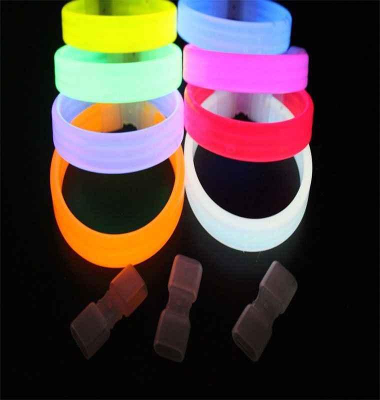 15 Pcs Festa Glow Sticks Pulseiras Colares Fluorescente Neon Cores decoração do casamento Xmas da Festa de Casamento de natal Decalque Ygb002
