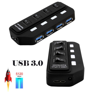 Multi 4 7 Port USB HUB 3.0 Sup
