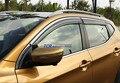 4 шт. Дверь Окно Солнцезащитный Козырек, Дефлекторы, Дождь Щит Крышка Накладка Для Nissan Qashqai 2014 2015 2016