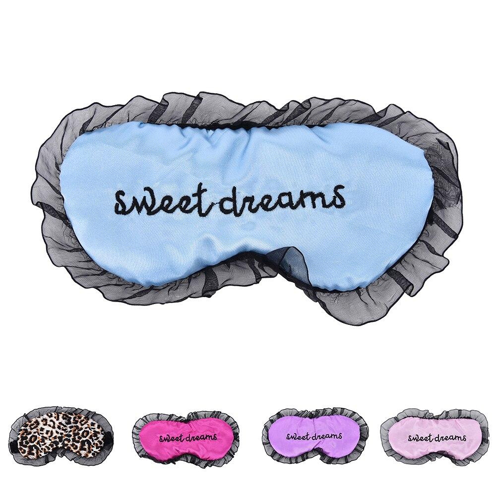 """Sweet Dream"" Embroidery Silk Sleeping Eye Mask Sexy Eye Shade Sleep Mask Black Mask Bandage On Eyes For Sleeping"