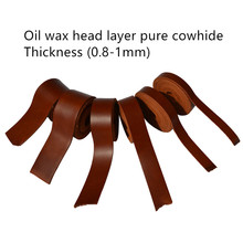 Diy head layer pure leather rope 1 mm thick belt edging strips tied necklace pendant