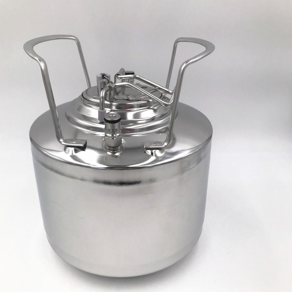 Stainless Steel 304 Beer OB Keg 6L with Ball Lock Cornelius style Fitting Pepsi kegs and