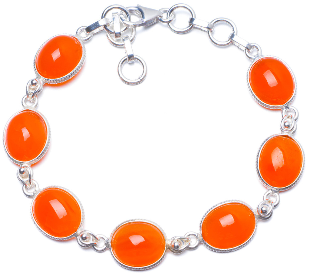 Natural Carnelian Handmade Unique 925 Sterling Silver Bracelet 7 1/4-8 Y0014 занавес светодиодный уличный 300см красный ul 00001357 uld c2030 240 twk red ip67