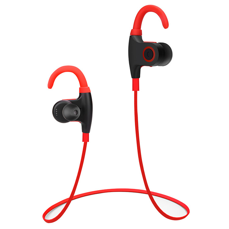 New Design Sport Ear Hook Earphone Wireless Bluetooth V4.1 Waterproof Headset For Mobile Phone Earbuds Red &Black Color YH-MGF-2 v sport ft209 2