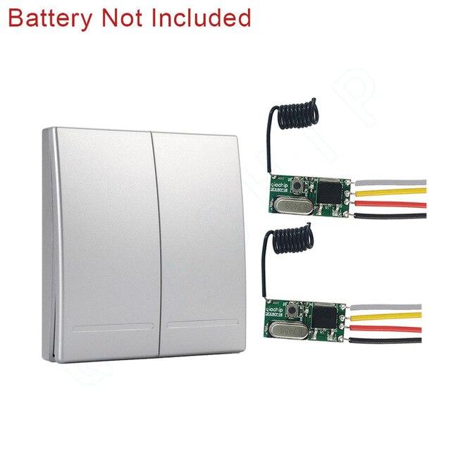 Commutateur Télécommande Sans Fil Interrupteur d/'Éclairage 12V 4 Canaux