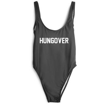 S-XL HUNGOVER bathing suits Women Sexy high cut Bodysuit One Piece Swimwear Beachwear plunge jumpsuit drop ship image