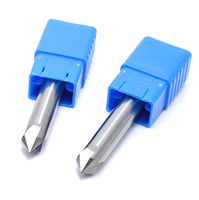 12mm X 90 Degree HRC50 4 Flutes Solid Carbide Chamfering Milling Cutter Chamfer Route Bits For
