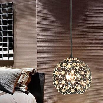 1 Luz, E27, com Cristal K9 Sombra Pendurado Luz Moderno Pingente LEVOU Lâmpada Para Casa Sala de estar, Lustres e Pendentes Lamparas, AC