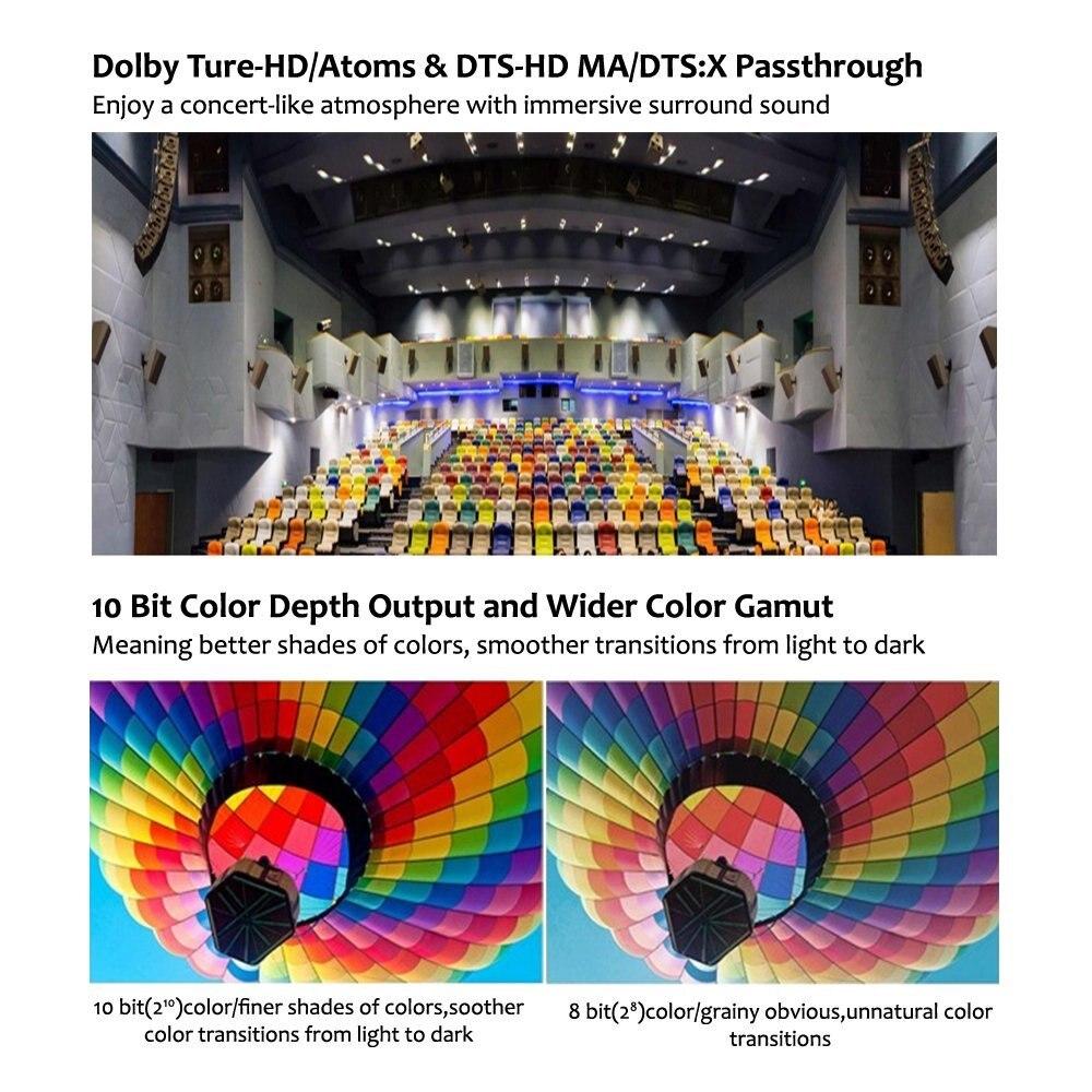 Reproductor multimedia Egreat A5 4K UHD con reproductor de disco duro HDR Blu-ray menú de navegación de reproducción ISO Android 5,1 TV caja de subcomité DOLBY BD-ISO - 5