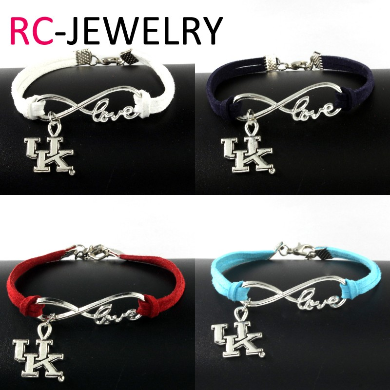 E059 Fashion Vintage Silver Digital Alloy Uk Charm Connectors Infinity Bracelets Whole Diy Leather Bracelet For Women