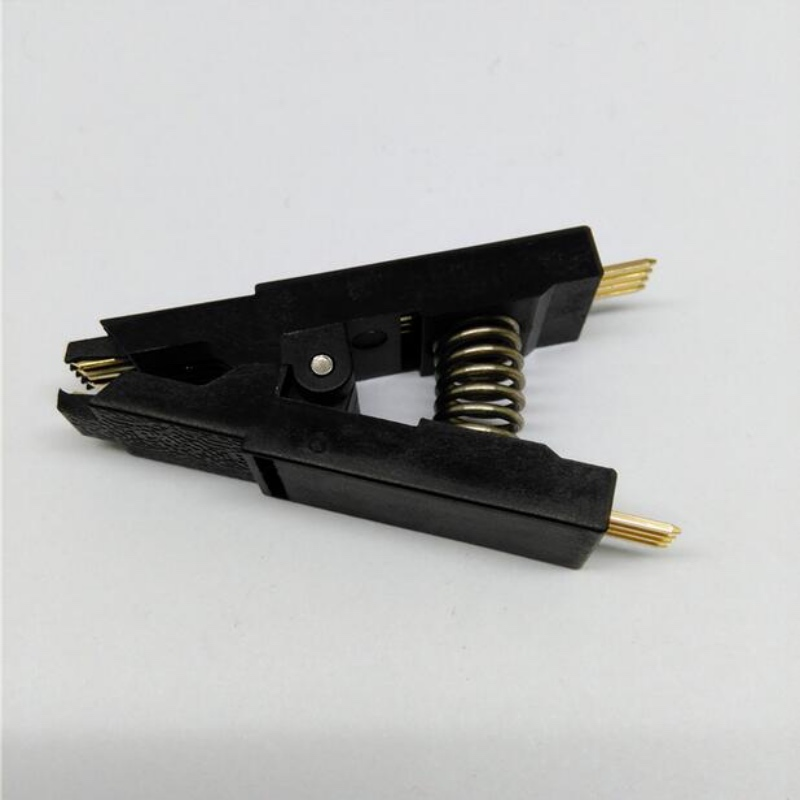 10pcs/lot ProgrammerTesting Clip SOIC 8 DIP 8 Pin IC Tools Chip Way SMD Programming SOP8 Fast Straight Clamp free shipping 10pcs 203d6 ncp1203d6 lcd chip 8 pin 223