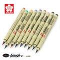 9 pcs/set Sakura Fine Line Pen Brush paintbrush Soft waterproof cartoons Pigma Micron Pen Art Markers