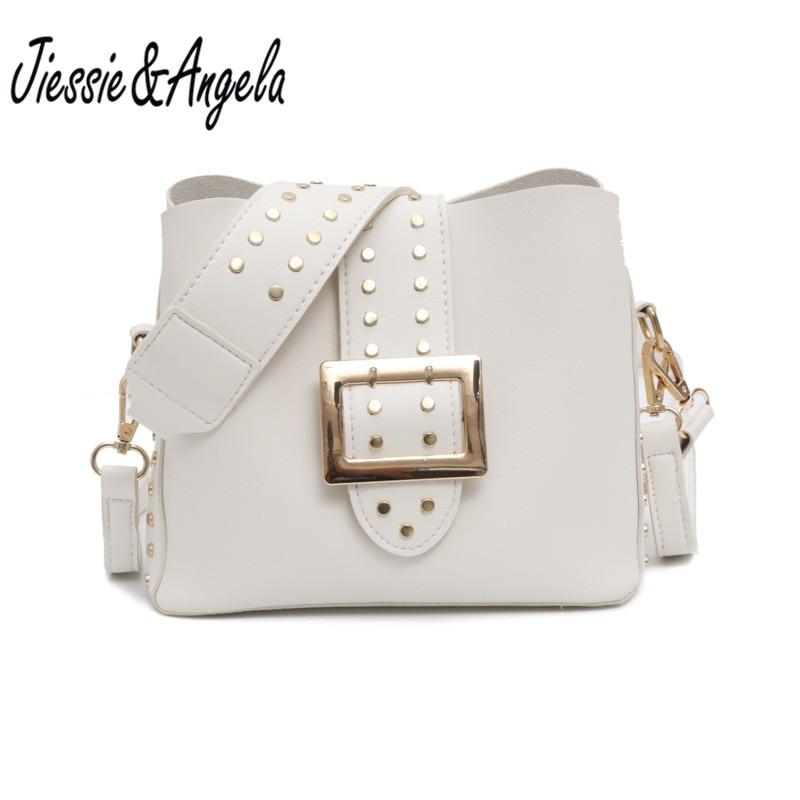 Jiessie&Angela new fashion women bucket bag handbag high quality bag female shoulder bags lady's messenger bag bolosa цена