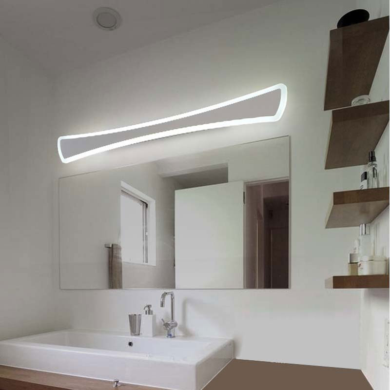 Us 28 98 32 Off Modern Nordic Led Wall Lamps Sconce Luminaria Kitchen Bathroom Mirror Lights For Home Decor Fixture White Iron Acrylic Avize In