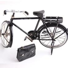أسود معدن دراجة نموذج و البسيطة ولاعة محاكاة لعبة هدية الديكور نموذج