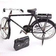 Czarny metalowy Model rowerowy i mini zapalniczka zabawka symulacyjna prezent dekoracja modelu