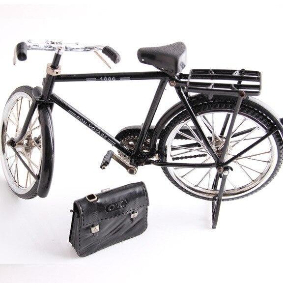 Modello di bicicletta in metallo nero e modello di decorazione regalo giocattolo mini accendino