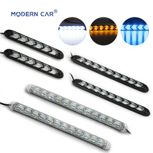 MODERN CAR Flexible Daytime Running Light Switchback LED Knight Rider Strip Headlight Arrow Flasher DRL Turn Signal Lights