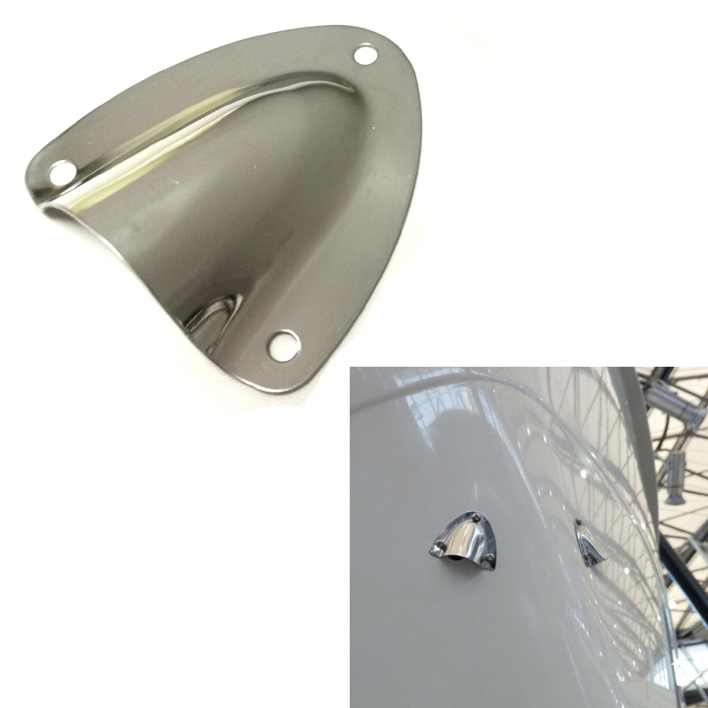 Marine Boat Stainless Steel Midget Clam Shell Vent Hose Cable Wire Cover Clam Shell Vent Cover Inflatable Boat Yacht