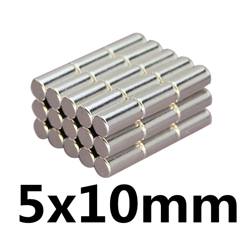 20Pcs 5x10 Neodymium Magnet Disc 5mm x 10mm N35 NdFeB Permanent Small Round Super Strong Powerful Ma