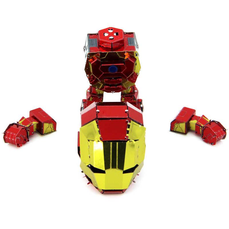 ثلاثية الأبعاد لغز معدني نموذج صغير الرجل الحديدي يدويا تجميع الألغاز تجميع ألعاب تعليمية للأطفال الكبار الهدايا
