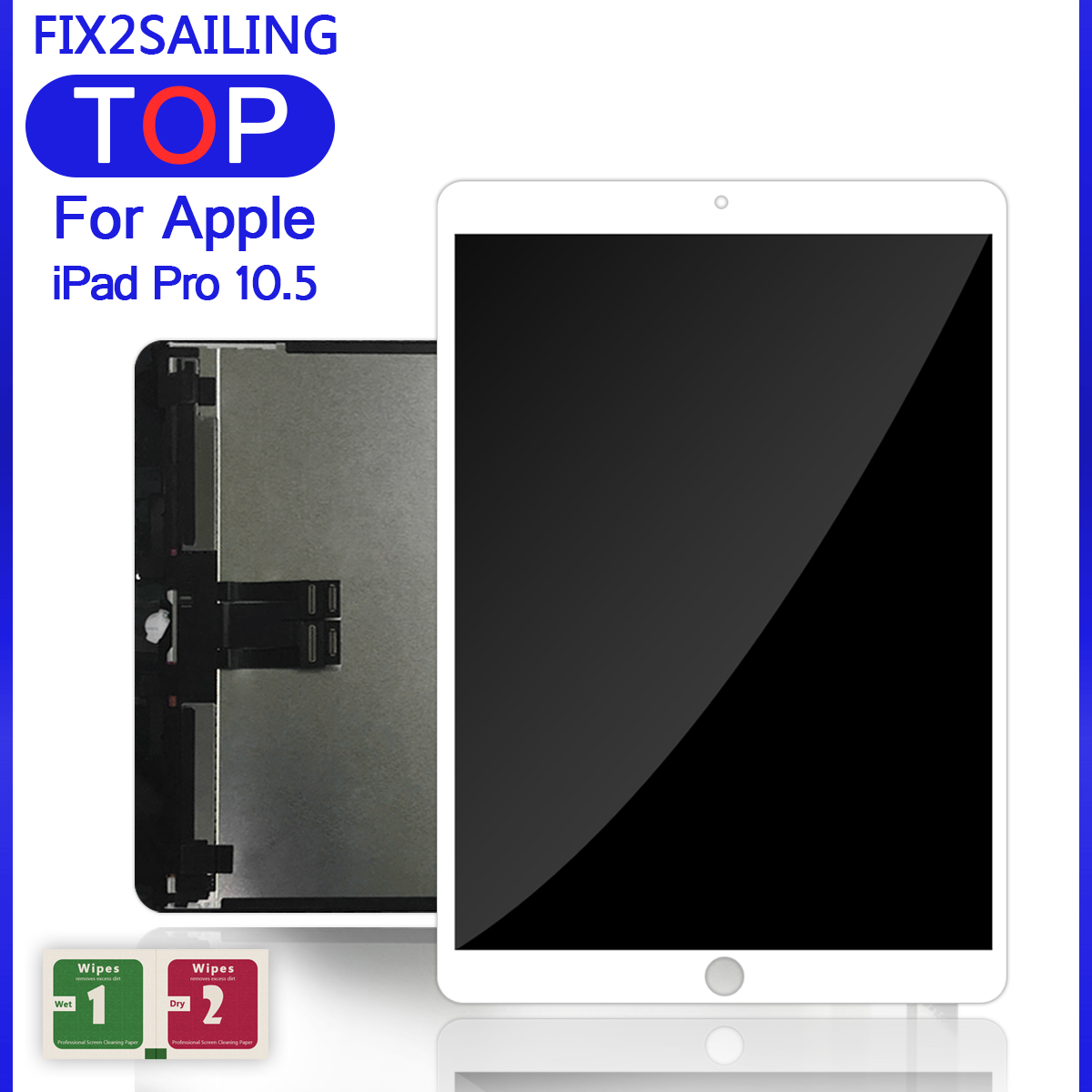 "Lcds For IPad Pro 10.5"" Inch A1701 A1709 OLED Lcd Display Touch Screen Glass Digitizer Full Assembly Replacement Tablet(China)"