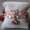 Trendy Mixed Color Crystal Bracelet Female Elephant Pendant Bracelet Natural Stone Production Fashion Jewelry Classic Bracelet