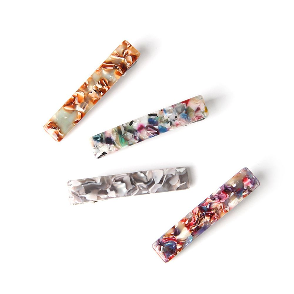 1 pc Resin Acetate Hair Clip Women Girls Headwear Barrettes Hairpins Gifts Duckbill Clip Hairpins Unique Design Hair clips