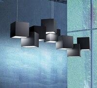 Işıklar ve Aydınlatma'ten Kolye ışıkları'de Modern İskandinav Demir kolye ışık asılı ışıklar oturma odası yatak odası kolye lamba LED dekor yemek odası bar kolye işıkları