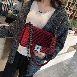 Bolsas de luxo bolsas femininas sacos designer do vintage veludo bolsa de embreagem bolsa de ombro pequena bolsa crossbody para mulher 2019 bolsa feminina