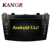 KANOR Android 7 1 Quad Core RAM 2G Car DVD GPS Radio Stereo For Mazda 3