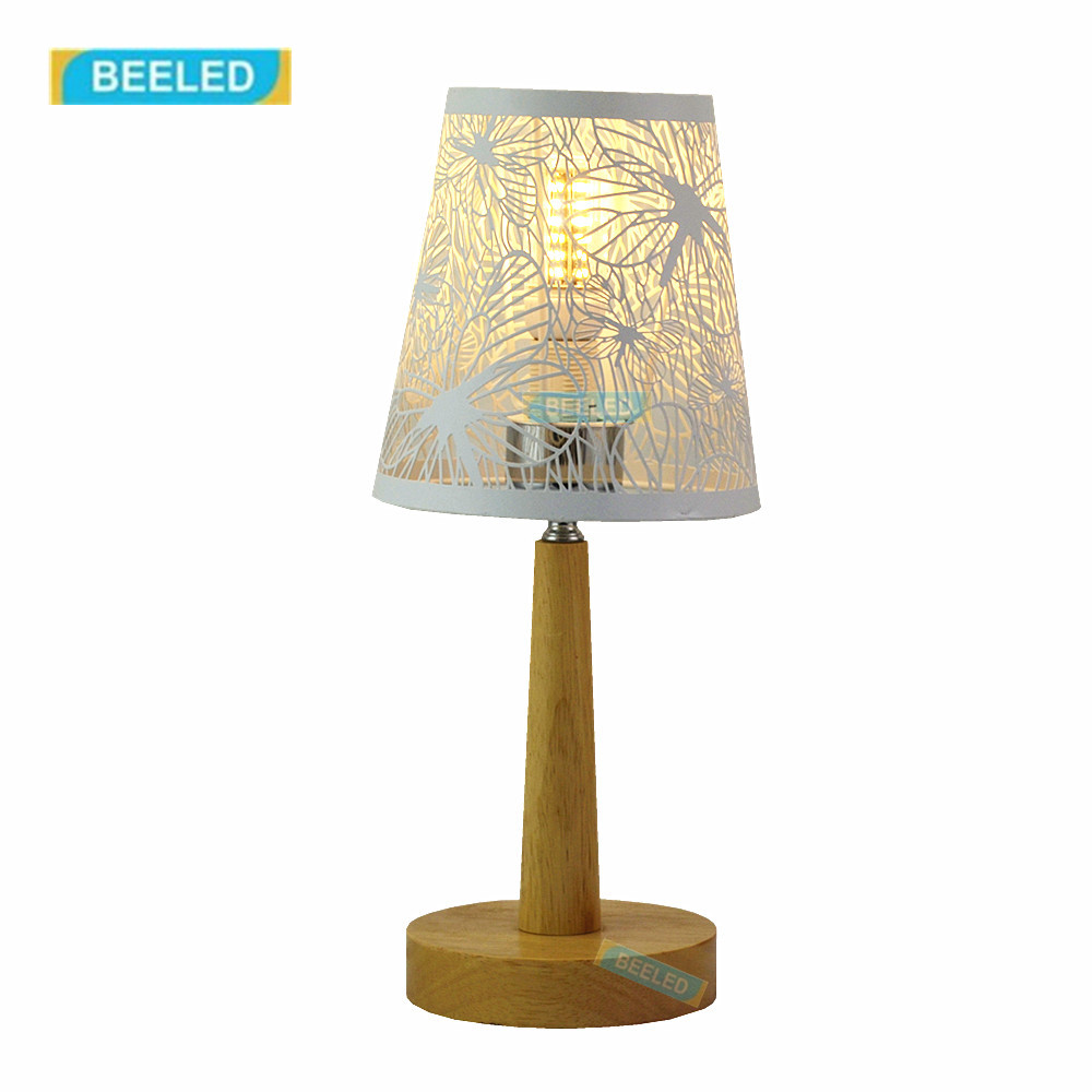 Table lamps for bedroom Night light White lampshade Table lamp for living room Home decorations for living room Wood lamp fumat stained glass table lamp high quality goddess lamp art collect creative home docor table lamp living room light fixtures