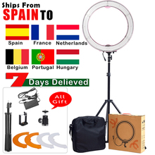 Consumer Electronics - Camera  - ASHANKS 55W 5500K Ring Light With Stand 240 LED Photographic Lighting Dimmable Camera Photo/Studio/Phone/Video Photography Lamp