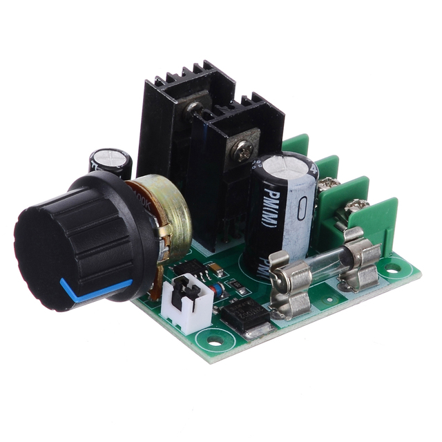 Adjustment DC Motor Speed Controller 12V-40V 10A PWM Electrical Motor Speed Controller Dimmer Voltage Regulator with Knob